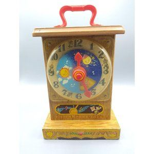 Vintage Fisher Price Tick Tock Clock, Musical Toy